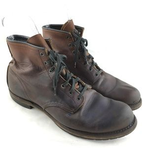 Ankle boot Beckman J Crew brown leather lace up 13